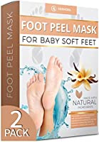 Vanilla Foot Peel Mask - 2 Pack - For Cracked Heels, Dead Skin & Calluses - Make Your Feet Baby Soft & Get Smooth Silky Skin - Removes Rough Heels, Dry Skin - Natural Treatment - Cruelty-Free