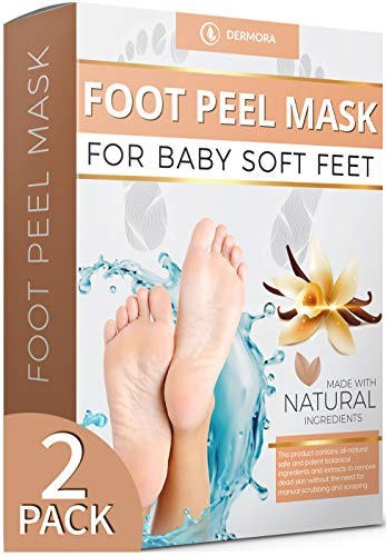 Vanilla Foot Peel Mask - 2 Pack - For Cracked Heels, Dead Skin & Calluses