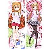 VBBTTA Anime Pillow Cover/Body Pillowcase Sexy Girl Anime Himouto! Umaru-chan Pillow Cover DOMA Umaru Dakimakura Case 3D Double-Sided Bedding Hugging Body Pillowcase Anime Fans Favorite Cushion Cover