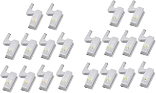 20 Stuks LED Scharnier Licht Universele Thuis Keuken Kantoordeur Licht Hotel Garderobe Kast Automatische Schakelaar Koel W...