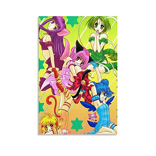 kawaiiStore Tokyo Mew Mew Anime Art Poster Style Poster Decorative Painting Canvas Wall Art Living Room Posters Bedroom Painting 12×18inch(30×45cm)