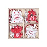 yuxue Ornamento Decoraciones Festival Christmas Christmas Ornaments Christmas Tree Pendant 12Pcs Christmas Day Atmosphere Decorations Happy New Year  20,12 Pcs,China