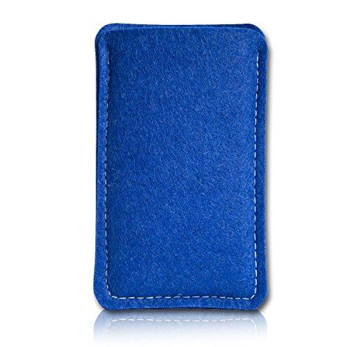 sw-mobile-shop Filz Style Wiko Riff Premium Filz Handy Tasche Hülle Etui passgenau für Wiko Riff - Farbe dunkelblau