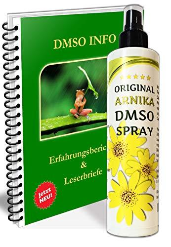Leivys Arnika DMSO Spray Dimethylsulfoxid 99,9%, HDPE Sprühflasche, mit Gratis PDF Handbuch Anwendung Wirkung 250ml