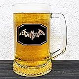 Batman - Arkham Glass Beer Mug - Gamer DC Comics Gift - Groomsman Beer Stein - Gift For Him - Personalized Beer Mug Glass - Gift For Men Who Have Everything