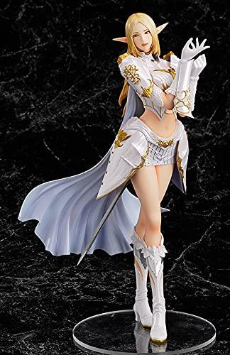 Akazan 26cm Anime Game New LineageⅡ White Elf Female Mage Beautiful Girl Figuras De PVC Juguetes Otaku Favorito Edición Limitada Modelo Estatua Estática Juego Decoración Regalo