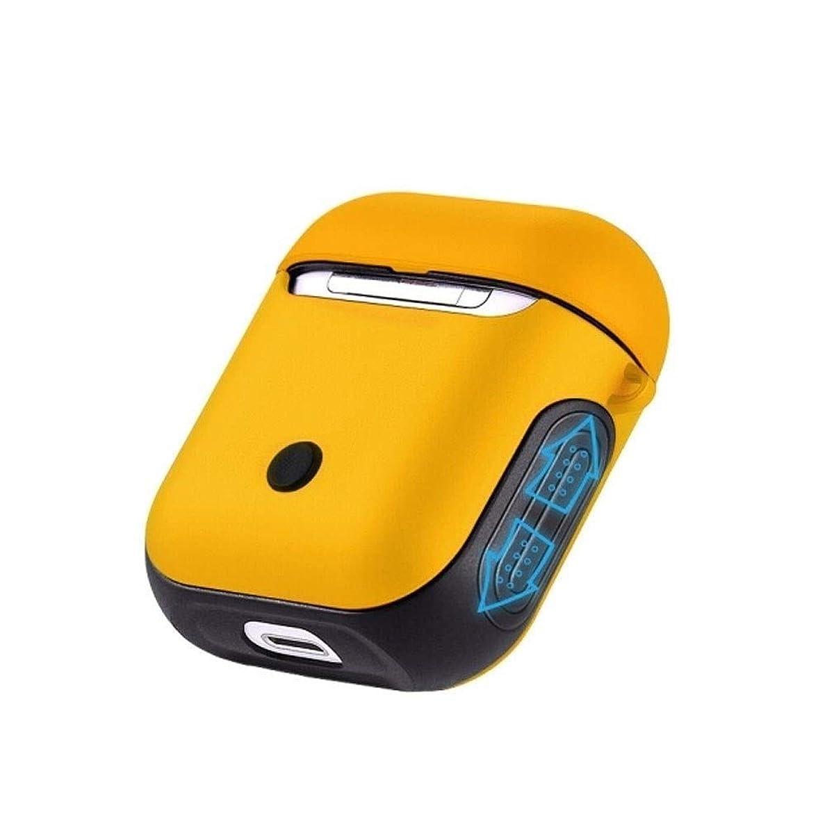 プロポーショナル並外れてユニークなGYHS AirPodsヘッドセットセット、ヘッドフォン充電ボックス、ハードシェルシリコン透明ボックス、白/黄/黒/赤 (Color : Yellow)