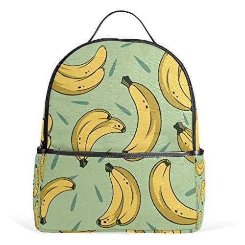 TIZORAX - Zaino a tracolla per computer portatile, stile casual, a forma di banana, leggero