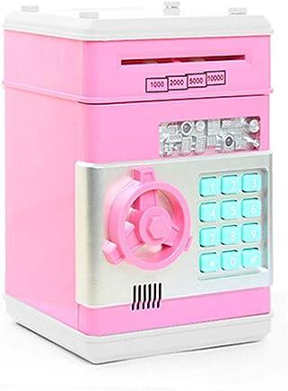 OSOPOLA Electronic Password Money Bank - Saving Banks ATM Coin Banks - Cash Coin Can Piggy Box - Toys Birthday Gift for Children Kids (Pink)