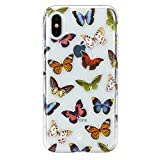 Velvet Caviar Compatible with iPhone Xs Case & iPhone X Case Butterfly for Women & Girls - Cute Clear Protective Phone Cases (Colorful Butterflies)