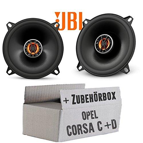 Opel Corsa C + D Tür hinten - Lautsprecher Boxen JBL Club 5020 | 2-Wege | 13cm Koax Auto Einbausatz - Einbauset