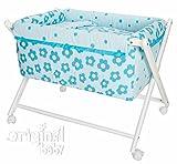 Mois/és//MiniCuna Cuco Nido para Beb/é Incluye Manta 80 x 45 cm 0-8 Meses Kally Sleep Azul