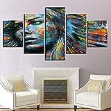 wmyzfs Lienzo HD Impresiones Pinturas Arte de la Pared Decoración para el hogar Habitación 5 Piezas ...