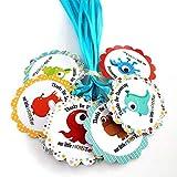 Adorebynat Party Decorations - EU Gracias a nuestros pequeños monstruo del favor de Etiquetas para Baby Shower duchas fiesta de celebración - Set 12