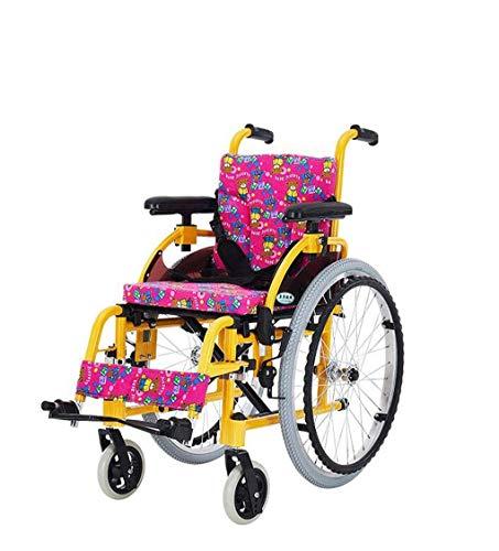 ZXL Kinder Rollstuhl Aluminium Klappwagen Leichter Kleiner tragbarer behinderter Kinder Roller Handbuch Rollstuhl
