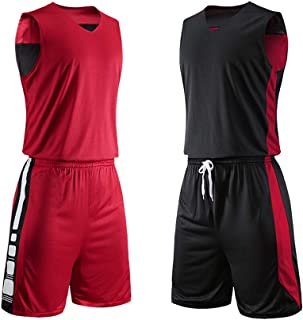 red and black basketball uniforms