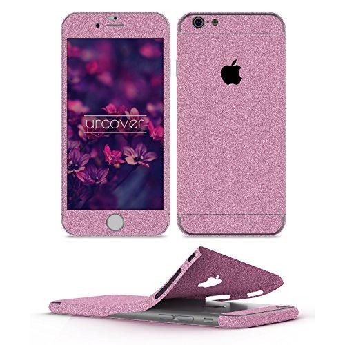 Urcover Pellicola Protettiva Glitterata per iPhone 6 / 6s Plus | Foglio Brillantini AntiGraffio | Skin Ultra Slim Protezione Adesiva Glamour in Viola