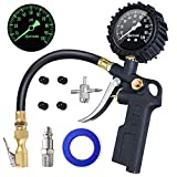 AstroAI Tire Inflator with Pressure Gauge, 100 PSI Air Chuck and Compressor Accessories Heavy Duty with Large...
