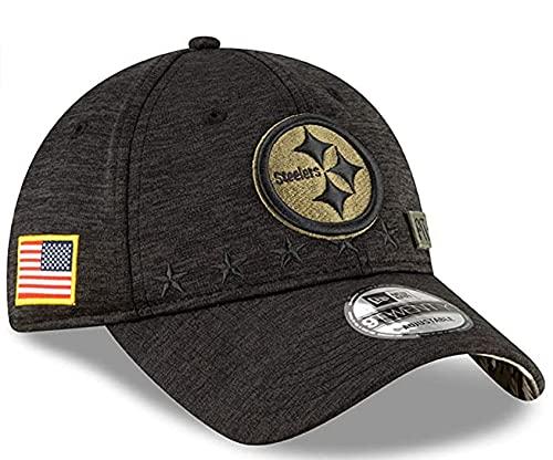 New Era Authentic Heather Black Veteran/Memorial Day Salute to Service 9Twenty Adjustable Dat Hat Cap (Steelers)