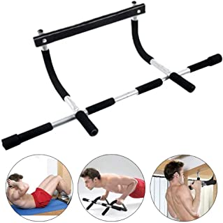 Coolcycling Indoor Fitness Pull Up Bar Workout Bar Chin Up Horizontal Bar, Heavy Duty Doorway Upper Body Workout Bar for Home Fitness Portable Gym System