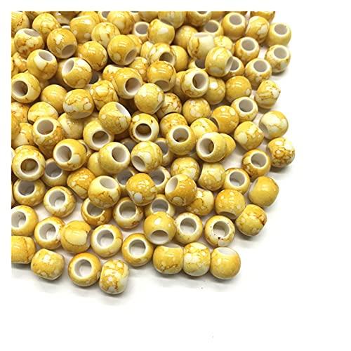 WEIMEIDA SLXZ620 30 unids/Lote 10 mm Big Hole Beads Redondo para la joyería Que Hace Perlas de acrílico Multicolor Flojo Bead Joyería DIY Accesorio Jqbb (Color : 11)