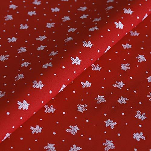 Hans-Textil-Shop Stoff Meterware Blümchen auf Rot, Baumwolle Dirndlstoff - 1 Meter