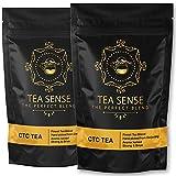 Tea Sense CTC Milk Tea - Chai Patti, Aromatic & strong delicious flavor tea, CTC + 20% Whole Leaves for Extra Color and Flavor, Assam Tea, Darjeeling Tea   Best of Assam & Darjeeling Tea – 500g
