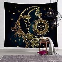 太陽と月のサイケデリックな壁のタロットタペストリー祭壇のタロット布占いアクセサリーアートチャクラ付き寝室の寮の装飾のための家の装飾