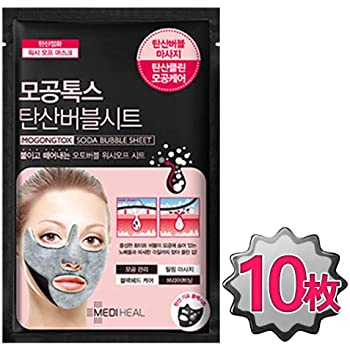 【正規品】メディヒール MEDIHEAL 毛穴トックス 炭酸バブルマスク18ml 炭酸マスクパック ブラックシートマスク (10枚) [並行輸入品]
