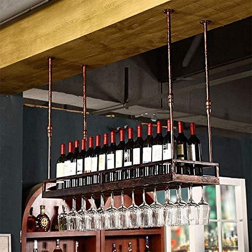 Estantería de vino Amantes del vino / Vino flotante Estante de vino Rack de copa de vino al revés Barra de vino Rack Industrial Loft Wine Copa de vino Tenedor de la taza del colgante Titular de la bot