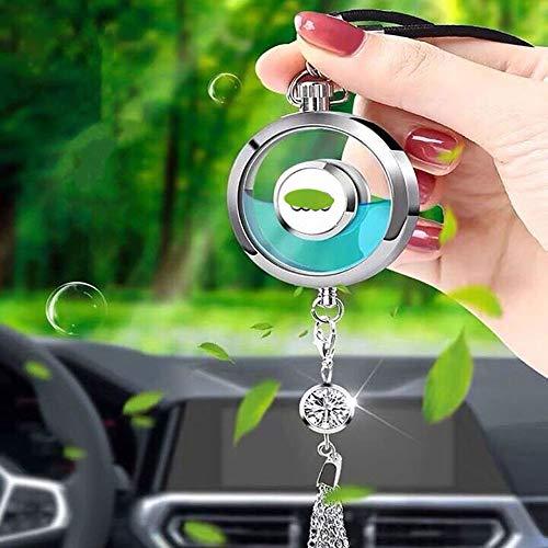 Auto Logo Duft Lufterfrischer Duftspender Auto Parfüm Rückspiegel Anhänger Auto Dekoration hängende Ornamente mit Geschenkbox