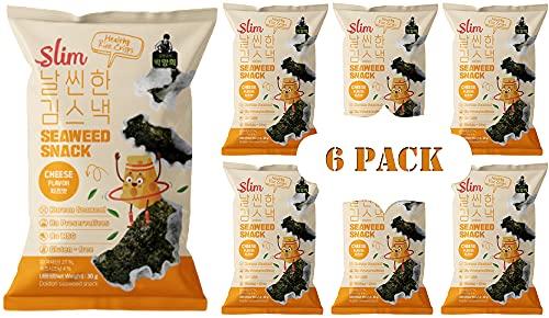 Master Hee's Slim Seaweed Crisps, Seaweed Snacks, Non-GMO, Gluten-Free, Zero Trans Fat, No Artificial Sweeteners, No Preservatives, Vegan (Cheese Flavor) 30g per pack (6-Pack)