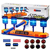 Electric Digital Shooting Target for Nerf Guns Boys Toys - 2021 New 5 Targets Scoring Auto Reset with Dart (Lightning) Sound Effect for Nerf,Ideal Gift Toy for Boys Girls Kids Age of 5,6,7,8,9,10,11+