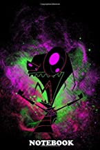 Notebook: Illustration Inspired By Invader Zim , Journal for Writing, College Ruled Size 6