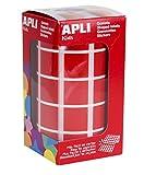 APLI Kids - Rollo de gomets cuadrados 20,0 mm, color rojo