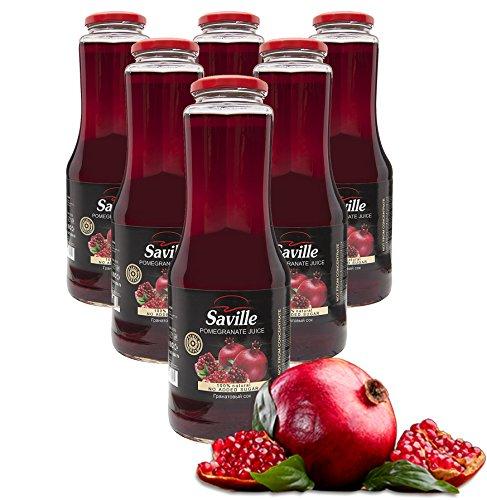 6Fl. x 1L Saville Granatapfel Direktsaft / 100{382b2d1f6728a94c0a1270ab9a3d075e6f2af13389b14c5c7600e241e2ecad4d} Granatapfelsaft / Muttersaft / Grenade juice