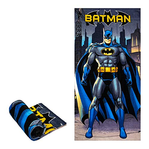 """Batman In City Beach/Pool/Bath Towel, Super Soft & Absorbent & Quick Dry, Fade Resistant Cotton Towel, Extra Large Size 58"""" x 28"""", Best for Vacation, Camping, Swimming, Backpacking"""