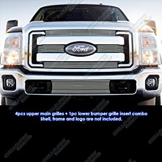 Garage-Pro Front Bumper Trim for FORD F-SERIES SUPER DUTY 2008-2010 Textured Gray King Ranch Model