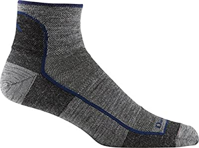 Darn Tough 1/4 Merino Wool Ultra-Light Athletic Socks - Men's Charcoal Large