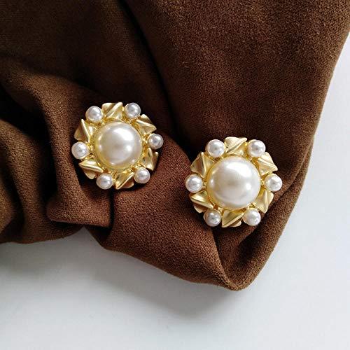 Erin Earring Semplici Orecchini A Forma Di Fiore Rotondi Geometrici Gioielli Di Moda Che Rendono Femminili Orecchini Di Perle In Stile Minimalista