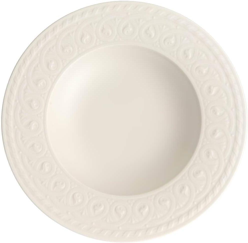 Villeroy Boch Cellini Rim Soup Austin Fees free!! Mall oz White 9.5