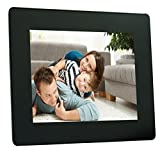 Merlin Digital Plastic Photo Frame (8 inch, Black)