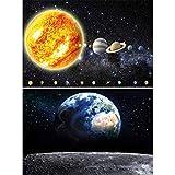 Great Art 2er Set XXL Poster – Erde und Sonnensystem