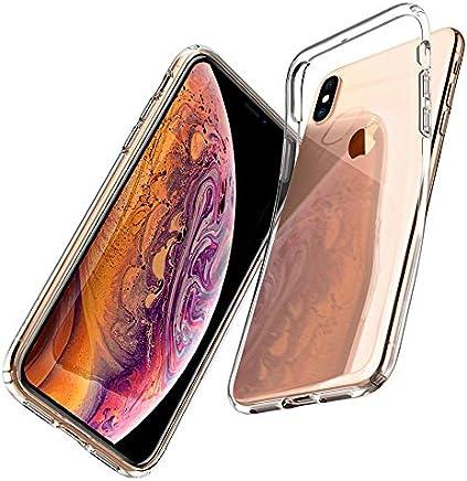 Spigen Coque iPhone XS/Coque iPhone X, [Liquid Crystal] Ultra Fine TPU Silicone [Crystal Clear] Transparent/Adhérence Parfaite/Anti-Trace Souple Coque pour Apple iPhone XS et iPhone X