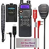 Mirkit Ham Radio Baofeng UV-5R MK4 8W Max Power 2021 Two Way Radio (Fullhouse Ham Radio Handheld Baofeng Uv-5r Accessories Kit with Baofeng 3800 Battery, Speaker Mic, UV 5R Programming Cable)
