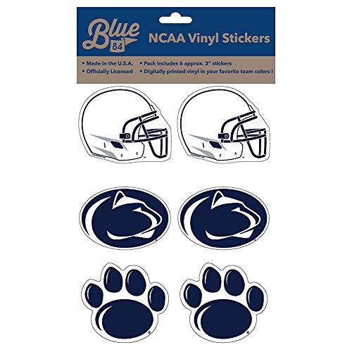 Elite Fan Shop Penn State Nittany Lions 3  Vinyl Decal 6-Pack - Navy