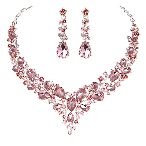 pink crystal necklace - 5