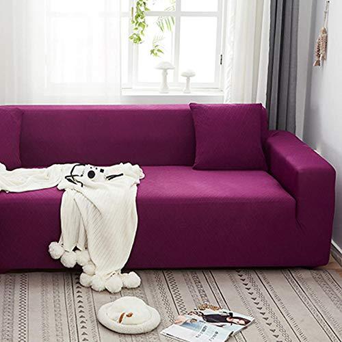 Protector De Sofá con Funda,Funda Universal elástica Universal para sofá, Funda Completa de liberación de Arena, 1 Pieza-Rosa púrpura_Cuatro Personas: 235-300cm