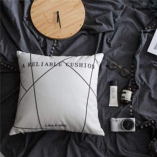 Soul hill Kissen Wickeln Nordic Netto-Autokissen roten Sofa Wohnzimmer Brief Quadrat Bett Kissen mit Kern 45x45cm-1