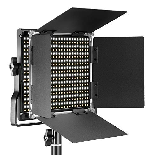 Neewer Professional Metal Bi-color LED Video Light for Studio, YouTube, Product Photography,...